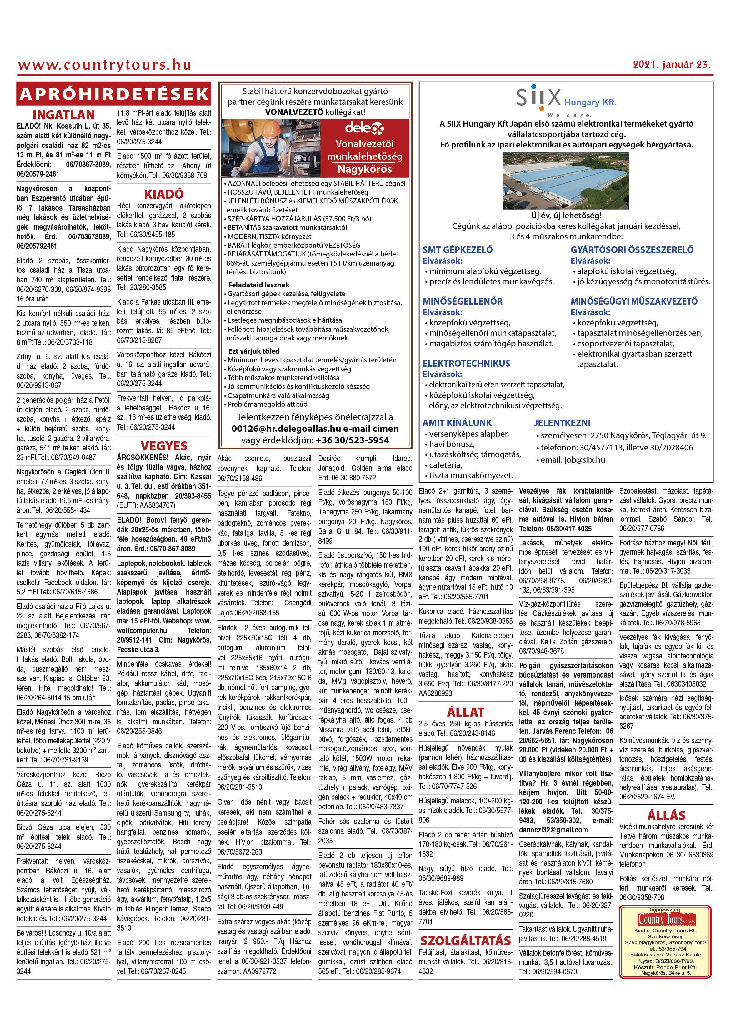 Nagykőrösi Hirdető 2. oldal